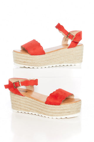 Emma Scalloped Espadrille Platforms