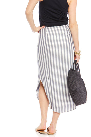 BB Dakota Stripe I Like Midi Skirt