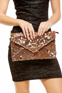 CHANDLER SEQUIN ENVELOPE CLUTCH