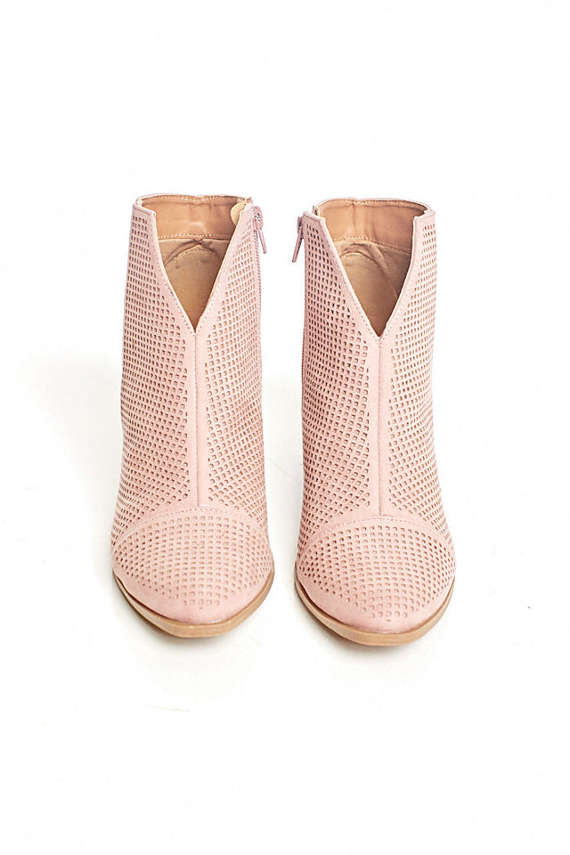 PRESLIE PERFORATED BOOTIE