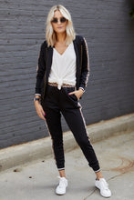 Load image into Gallery viewer, Hailee Track Stripe Jacket