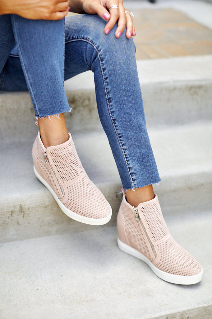 Charlotte Perforated Wedge Sneaker