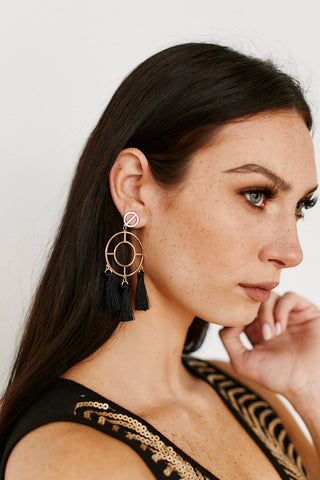 To The Core Tassel Detail Earrings