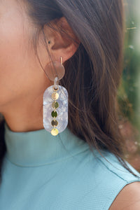 CAPRI DANGLE ACRYLIC EARRINGS