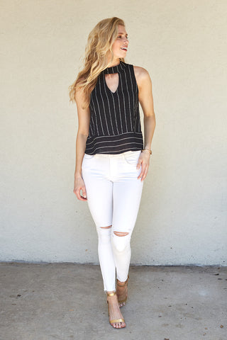 DAPHNE MOCK NECK TOP