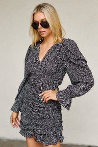SALE - Scottie Printed Ruched Dress