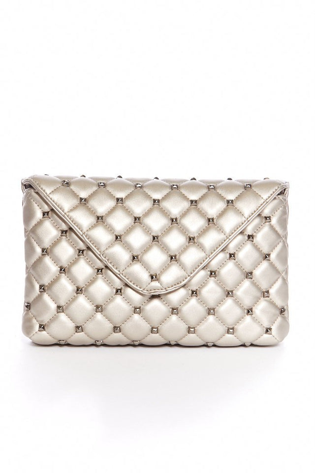 Lorena Studded Quilted Crossbody