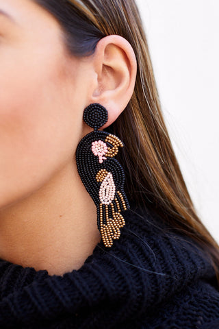 Lydia Beaded Parrot Earrings