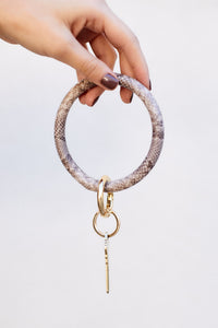Maya Snakeskin Key Ring