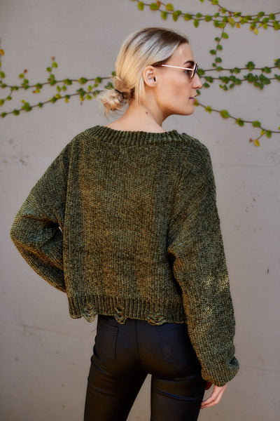 fab'rik - Milly V Neck Chenille Sweater image thumbnail