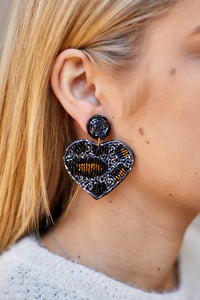 Sadie Leopard Heart Earrings