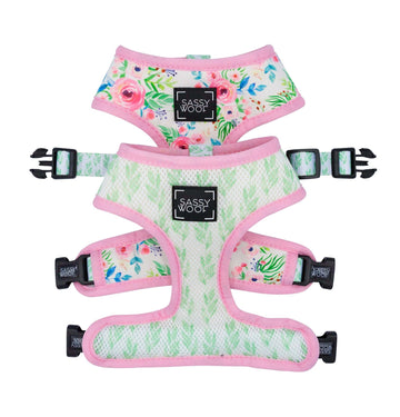 Reversible Harness - Blossoms - Coco and Chili's Shop