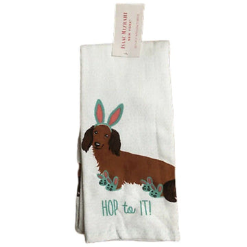 Isaac Mizrahi Dachshund Easter Kitchen Towel Set