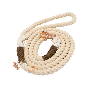 Rope Leash - Coconut Cream