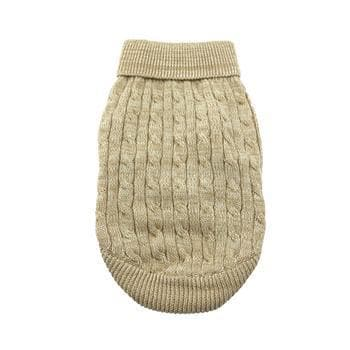 Combed Cotton Cable Knit Dog Sweater - Oatmeal - Coco and Chili's Shop