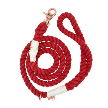 Sassy Rope Leash - Crimson