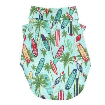 Hawaiian Camp Shirt - Surfboards and Palms - Coco and Chili's Shop