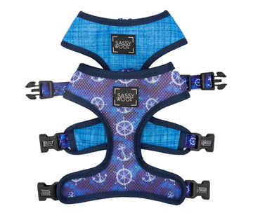 Reversible Harness - Marin Bleu - Coco and Chili's Shop