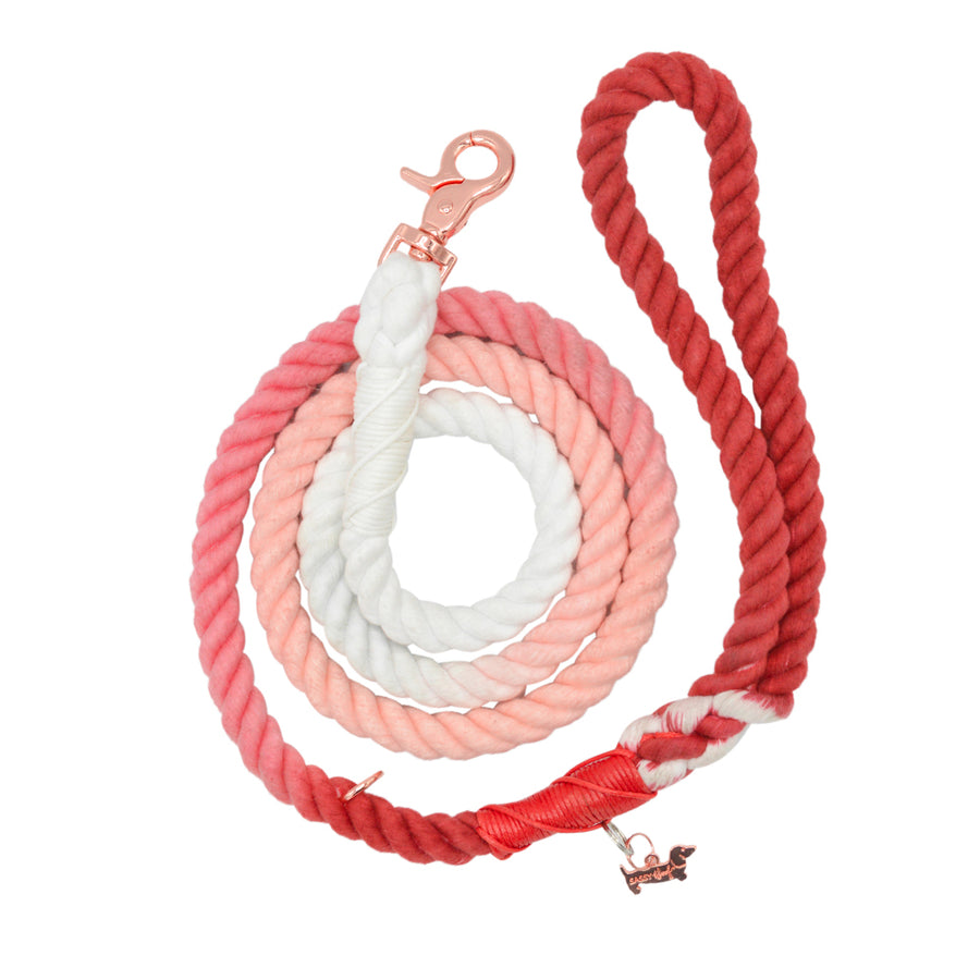 Sassy Rope Leash - Poppy
