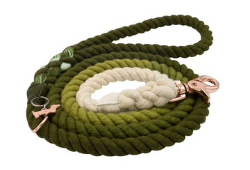 Rope Leash - Ombre Olive
