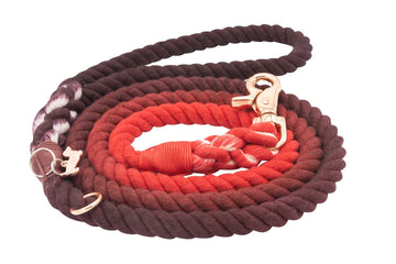 Rope Leash - Ruby