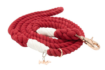 Rope Leash - Crimson