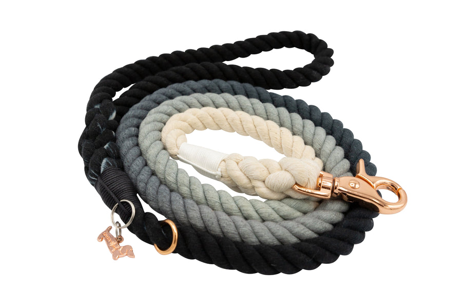 Rope Leash - Ombre Black
