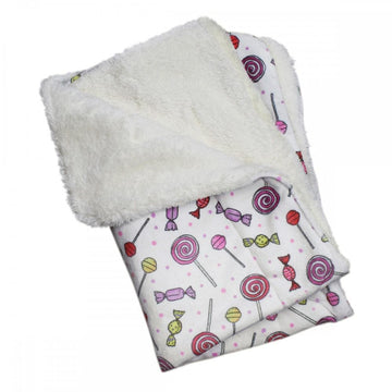 Ultra Soft Minky/Plush Sweet Candies Blanket