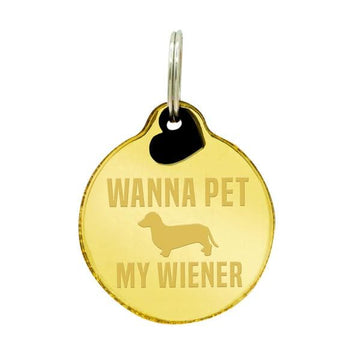 Rebel Dawg Dog Tag - Wanna Pet My Wiener