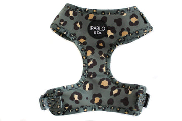 Adjustable Harness - Khaki Leopard - Coco and Chili's Shop