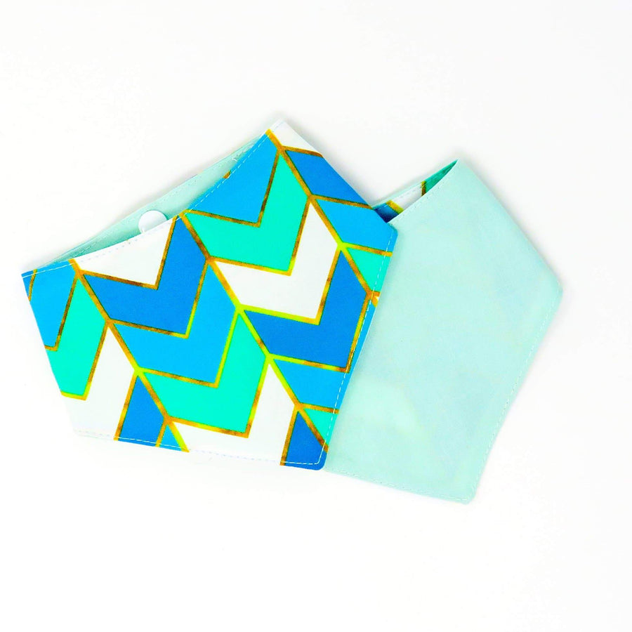 Bandana - Teal Chevron - Coco and Chili's Shop