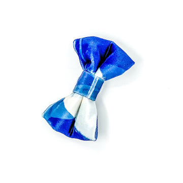 Bowtie - Navy Abstract- Super Soft Velvet - Coco and Chili's Shop