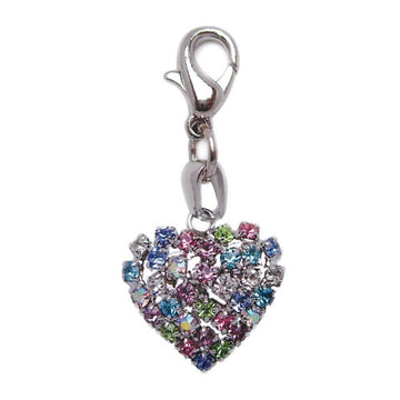 Colorful Rhinestone Heart Shaped Charm - Coco and Chili's Shop