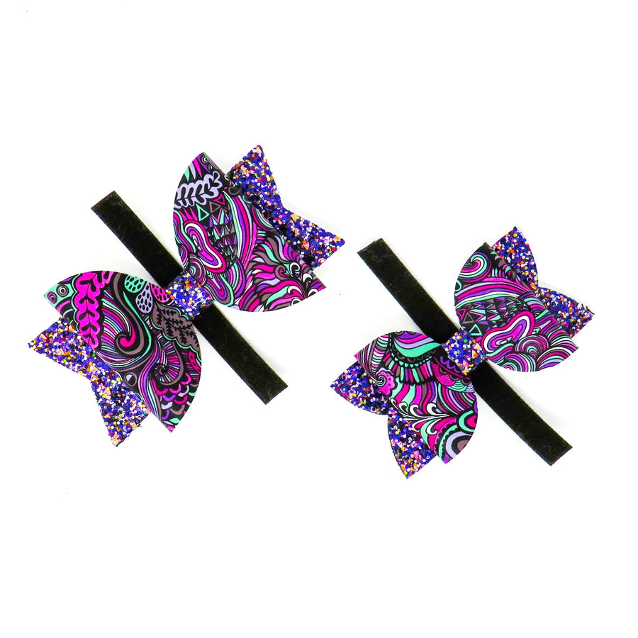 Colourful Paisley Bows - Coco and Chili's Shop