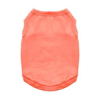 Cotton Dog Tank - Coral - Coco and Chili's Shop