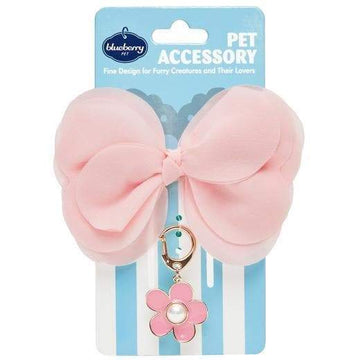 Cute Pet - Pink Bow and Sunflower Pendant - Coco and Chili's Shop