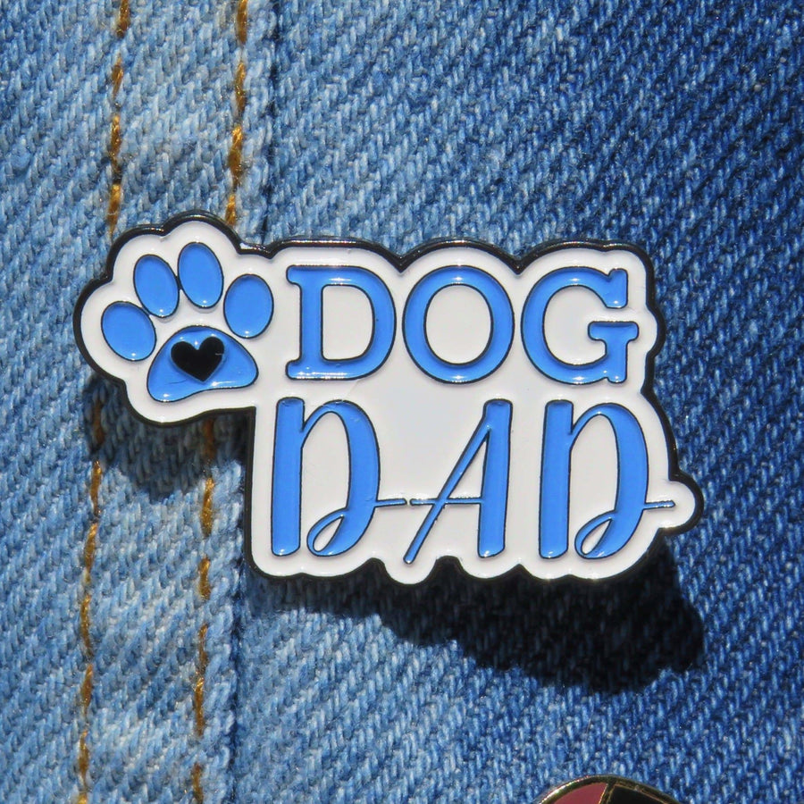 Enamel Pin - Dog Dad - Coco and Chili's Shop