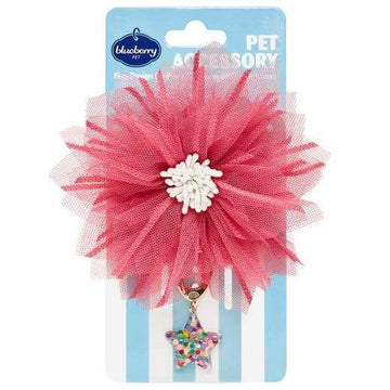 Floral Pet - Mesh Flower and Star Pendant - Coco and Chili's Shop