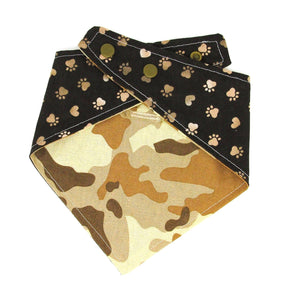 Bandana, Camo, Reversible snap on