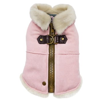 Furry Runner Coat Pink - Coco and Chili's Shop