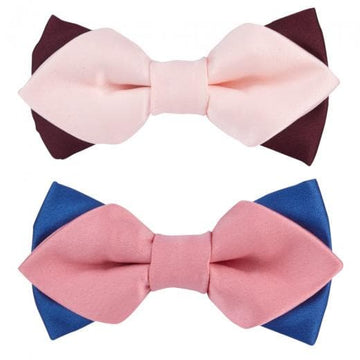 Go for Versatile Satin Pink Bowtie Set - Coco and Chili's Shop