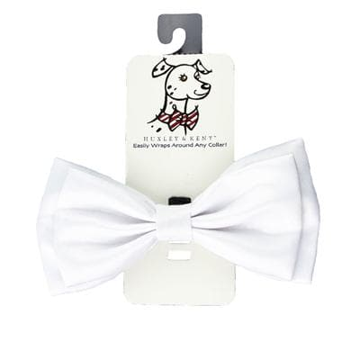 Novelty Bowtie - White Satin - Coco and Chili's Shop
