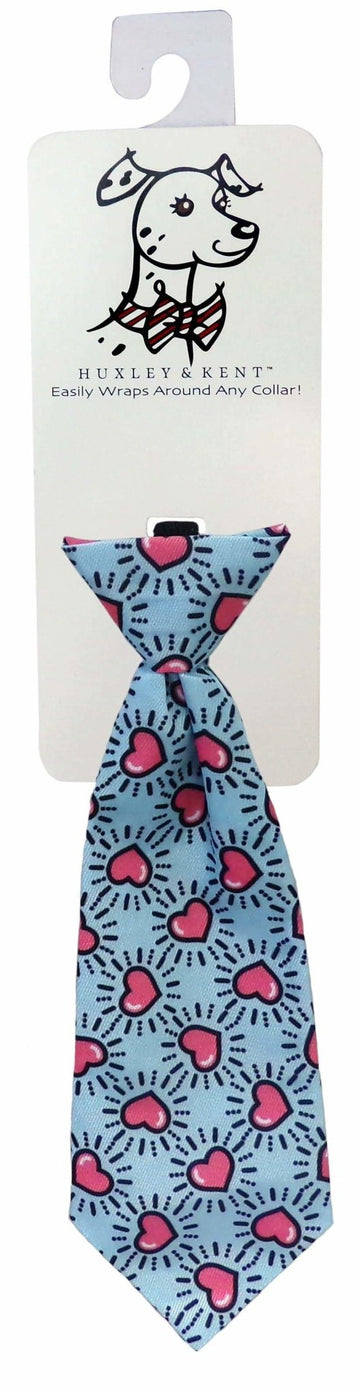 Novelty Long Tie - Mod Blue Hearts - Coco and Chili's Shop