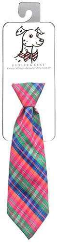 Novelty Long Tie - Sweet Tart Plaid - Coco and Chili's Shop