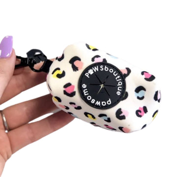 Poo Bag Holder – Pastel Leopard - Coco and Chili's Shop