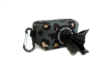 Poop Bag Holder: Khaki Leopard - Coco and Chili's Shop