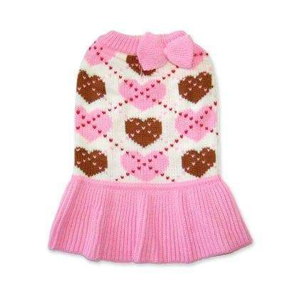 Preppy Heart Sweater Dress - Coco and Chili's Shop