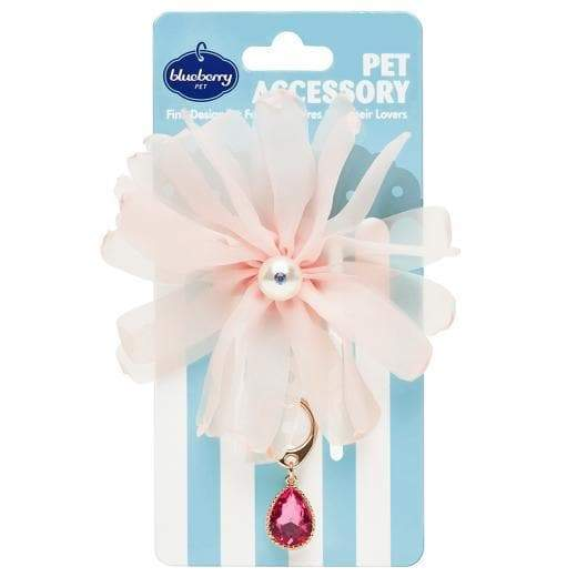 Pretty Pet- Flower and Pink Waterdrop Pendant - Coco and Chili's Shop