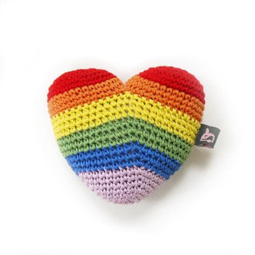 Rainbow Heart Squeaky - Coco and Chili's Shop