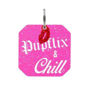Rebel Dawg Dog Tag - Pupflix & Chill - Coco and Chili's Shop